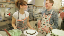 We don our super cute aprons with Magnolia Bakery's CBO—chief baking officer, that is—Bobbie Lloyd, and prove that we're more than a little green when it comes to cake icing. She sets us straight and makes the perfect peppermint icebox cake to prep for St. Patrick's Day on Saturday, March 17th. Watch the exclusive G&F interview.