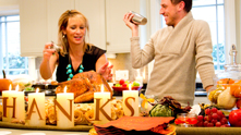 In true Glossed & Found style, we're giving thanks with a toast: raise your pumpkin martinis to ForYourParty.com's Sari Mintz. Last year, she taught us how to wrap a perfect present, and now she's showing us how to do up Turkey Day. We mix the perfect cocktail, indulge in a s'mores bar, and—of course—shout-out to the people and things that are most important. Check out the exclusive G&F interview. Oh, and Happy Thanksgiving!