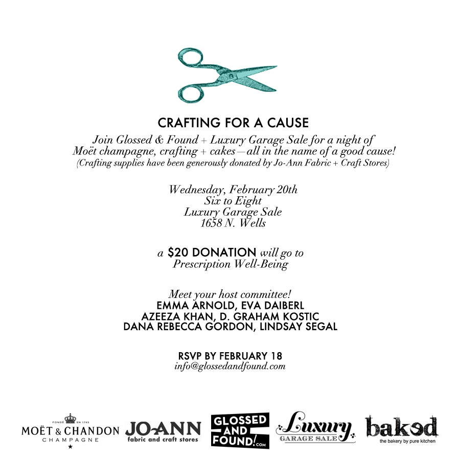 Crafting for a Cause_GlossedandFound&LuxuryGarageSale