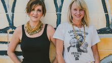 Don't threaten us with a silly time because we're all about F-U-N at G&F. We giggle with Kate Mills and Ashley Sheehan of Old Made Good—perfectly abbreviated to O.M.G—who craft and source amusing vintage finds at their East Nashville outpost. Their cross stitch pieces are a perfect combination of antique goodness with sarcastic attitude—lovingly called Naughty Needlepoints. We catch up at their glittering emporium of tantalizing treasures and cool finds and sit down with the duo to try our hand at our very own Naughty Needlepoint. And although they aren't going to bring us on as copywriters for this project, we get to know the Nashville-based duo.