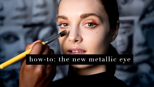 G&F Fall Beauty How-To: The Metallic Eye