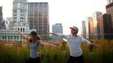 We're kicking it down dog style with yoga instructor Kris Krupa. On top of the Terrace at Trump, we're balancing through three poses to get minded and meditated all the way to namaste. While the 6AM outdoor yoga class isn't for everyone, those who are daring to join her to chaturanga with the sunrise will surely not be disappointed. We can't help but love her mantra of keeping a present mind and enjoy every moment—especially at her powerful perch on the Terrace at Trump.