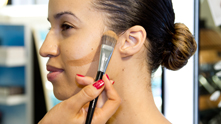 We hear it all the time in the beauty sphere: how can the average woman contour like a pro without looking freshly caked with makeup? The right contouring technique allows you to accentuate and scuplt your features without anything drastic, or even changing the types of products you use. Marc Jacob's Genius Gel builds easily from natural to full coverage, providing supreme hydration for a radiant finish. Pair your foundation with a highlighter, like the Givenchy Corrective Pen for a successful contouring duo. Watch and learn the power of a tapered foundation brush to shape your cheekbones, jawline and nose to let your natural beauty shine.
