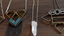 The jewelry designer has us over for drinks! Oh, and creating jewelry. Designer Alicia Mohr (and her dog, Zeus, of course) is the genius behind Ali's Collection, the semi-eponymous jewelry line (Ali was her childhood nickname). We get our creative juices flowing with some homemade mango-orange mimosas as Alicia shows us how to create a pair of pyrite earrings from her latest collection, aptly named Geometry. Watch the exclusive G&F interview.