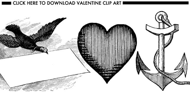 Glossed & Found Valentine's Day DIY Download Valentine's Clip Art_1
