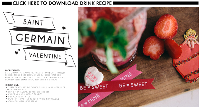 Glossed & Found Valentine's Day DIY St Germain Champagne Cocktail Download Recipe_1