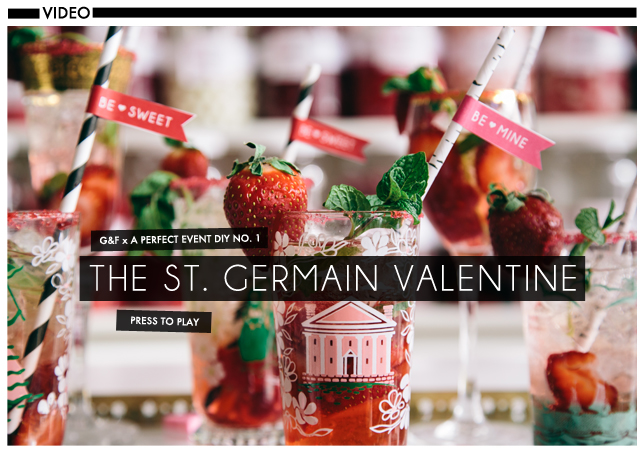 Glossed & Found Valentine's Day DIY St Germain Champagne Cocktail