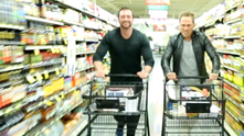 In this week's G&F Interview, we challenged A Mind and Body Total Fitness founder Alex Vasileski to show us some workouts on the go. At Mariano's Fresh Market. Alex chatted us up about proper form and knew the weight of every household object (from a bag of rice to a gallon of milk). But once we finished, we wanted to take the challenge one step farther. Alex's 360 degree training program not only consists of physical strength and mental prep, he's also a health nut when it comes to his meals. We picked one of his favorite recipes and had clues made up to direct us to one of his go-to meals. The result? A race for the recipe—complete with battling carts and photo finish.