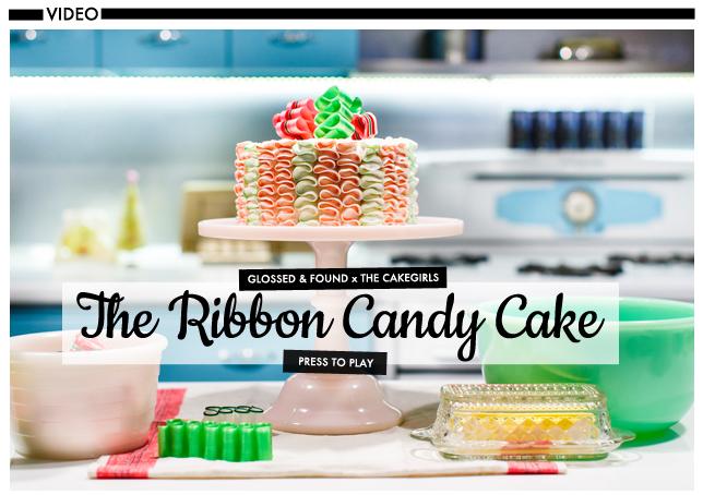 Glossed & Found Cakegirls Holiday DIY 2013_ribbon candy cake