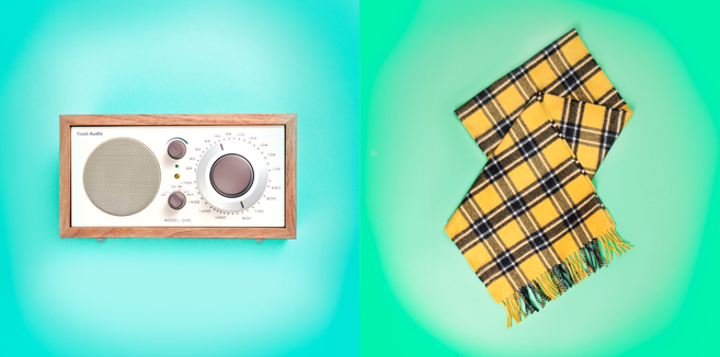 Glossed & Found Gift Guide_radio and scarf