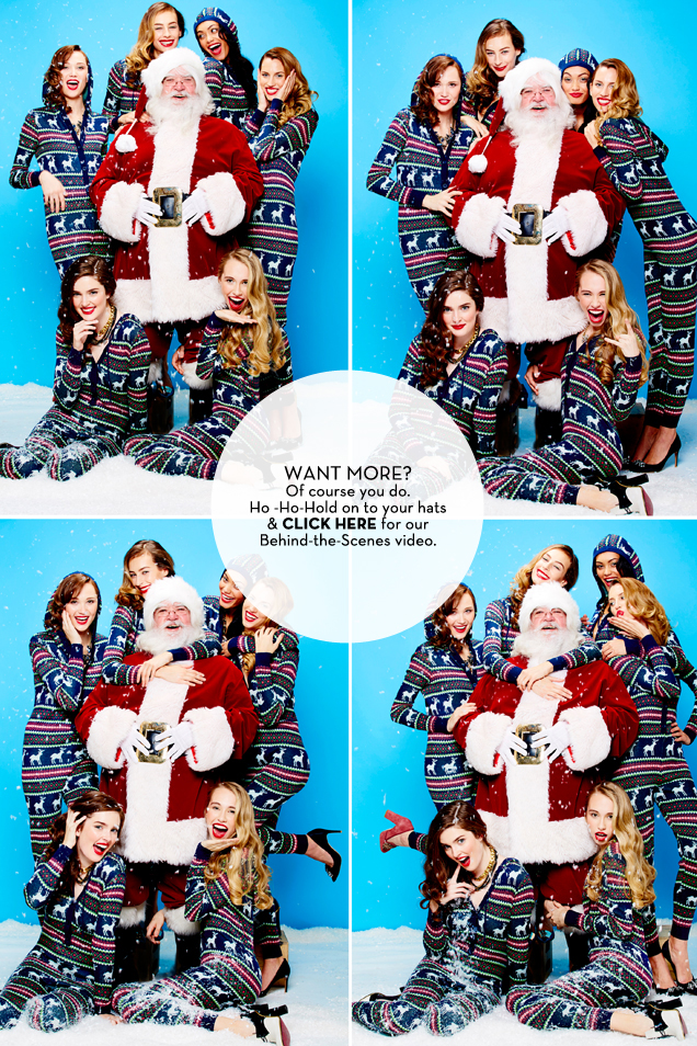 Glossed & Found_Holiday Fashion_Santa Collage_BTS