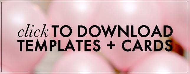 DIY download Valentine's Day Templates