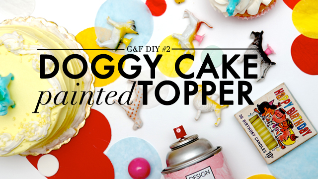 VDay DIY: Doggy Cake Topper