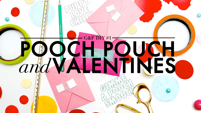 VDay DIY: Pooch Pouch + Cards