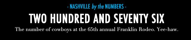 GF Travel_Nashville_Nashville Numbers Franklin Rodeo