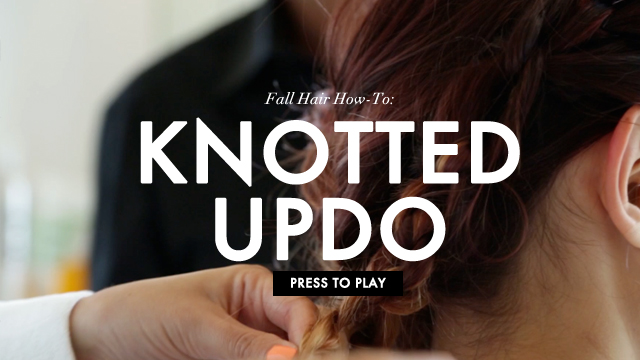 Knotted Updo How-To