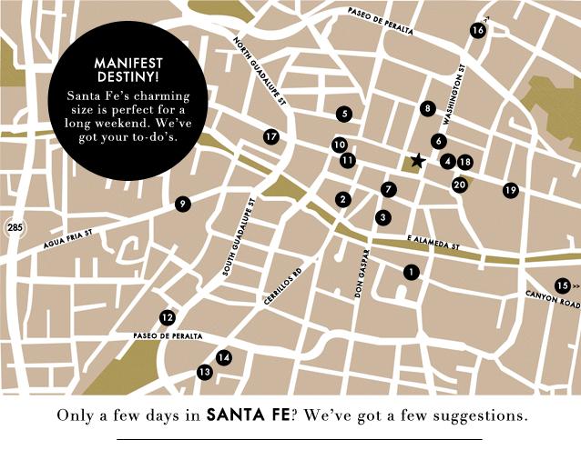 G&F Travel_new Mexico_santa fe map