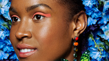 Experiment with bold color and graphic shapes for a Summer Beauty trend that is sure to turn heads.